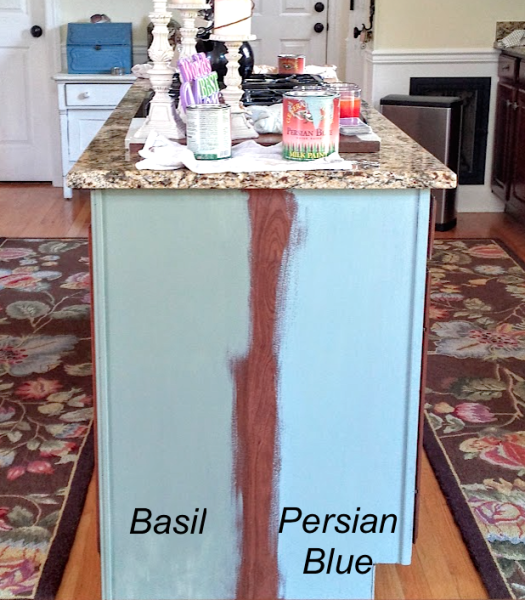 Cherry Kitchen Cabinet Makeover with Granite/General Finishes Milk .