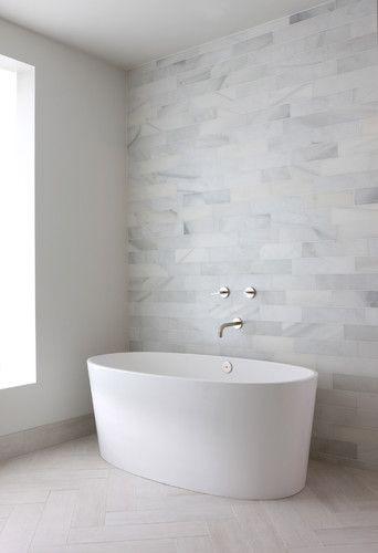 Minimalist Look White Bathroom Tiles