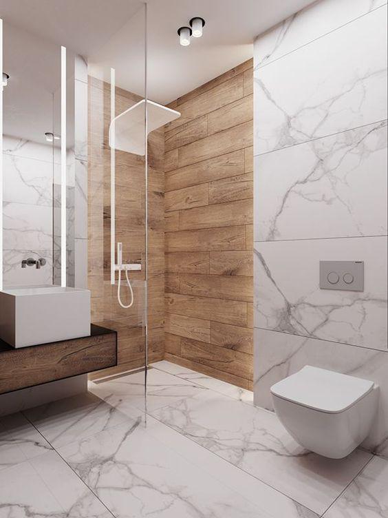 25 Trendy Wood Look Tile Ideas For Bathrooms - DigsDi