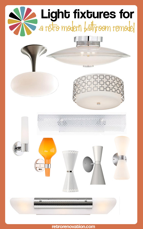 17 bathroom lighting fixtures for a retro-modern bathroom remodel