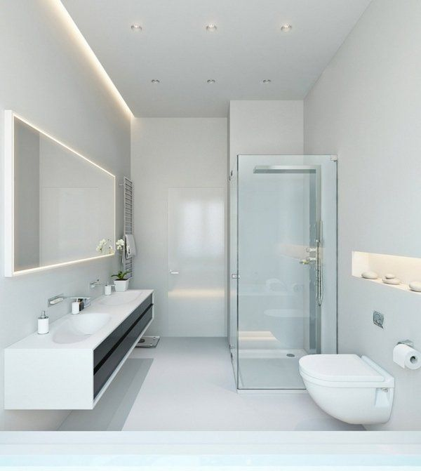 bathroom lighting ideas LED lighting contemporary white minimalist .