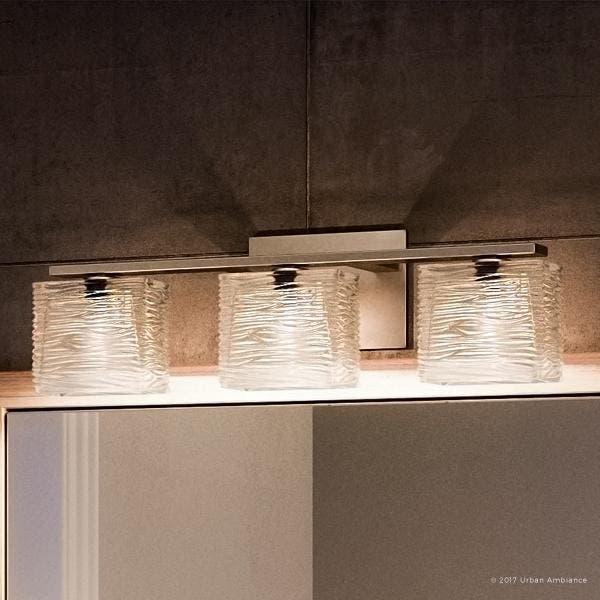 """Shop Luxury Modern Bathroom Light, 6.75""""H x 22.5""""W, with ."""
