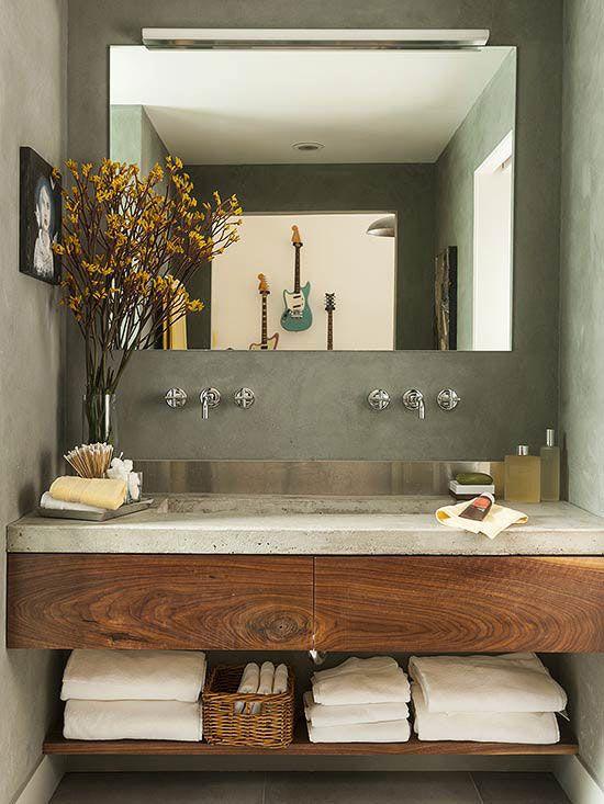 Modern Bathroom Vanities | Concrete bathroom design, Bathroom .