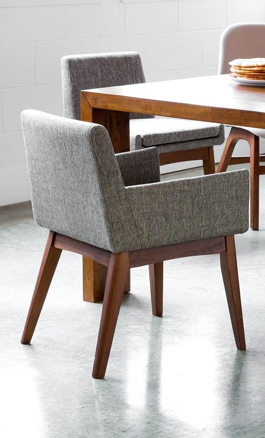 Chanel Volcanic Gray Dining Chair | Dining chairs, Gray dining .