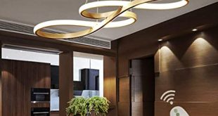 Modern LED Acrylic Chandelier Dining Room Dimmable 3000K~6500K .
