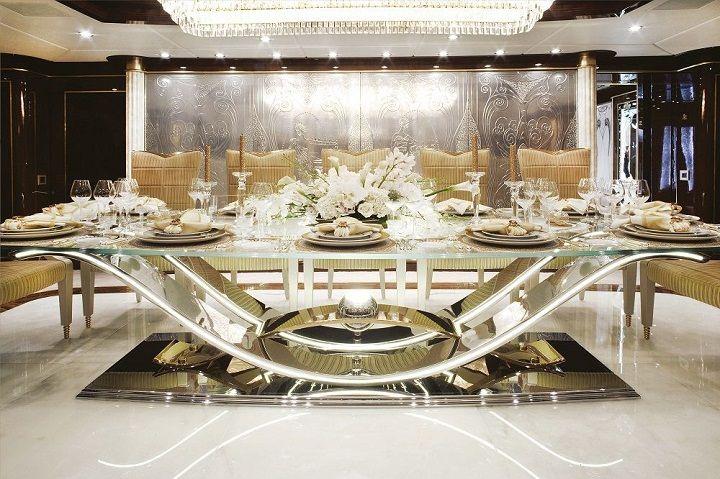 Mesa de jantar moderna | Luxury dining tables, Luxury dining .