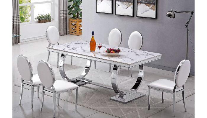 Lippa Modern Marble Top Dining Tab