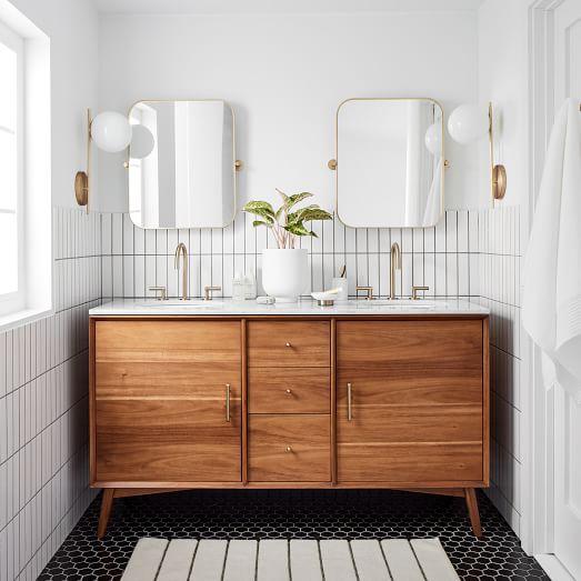 Mid Century Double Bathroom Vanity - Aco