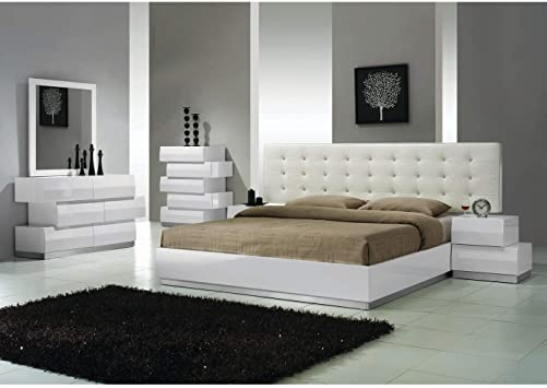 Amazon.com: Best Master Furniture 5 pcs Modern Bedroom Set, Cal .