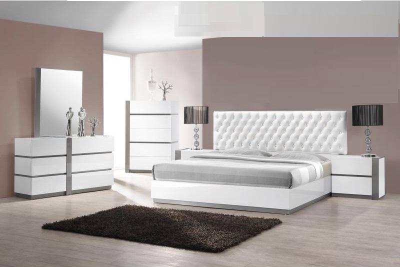 Est King Size Bedroom 4pc Set White Finish | Hot Sectiona