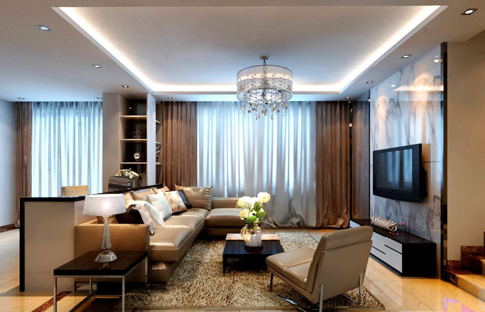 Great Modern Living Room Curtains American Design Beautiful Rooms .
