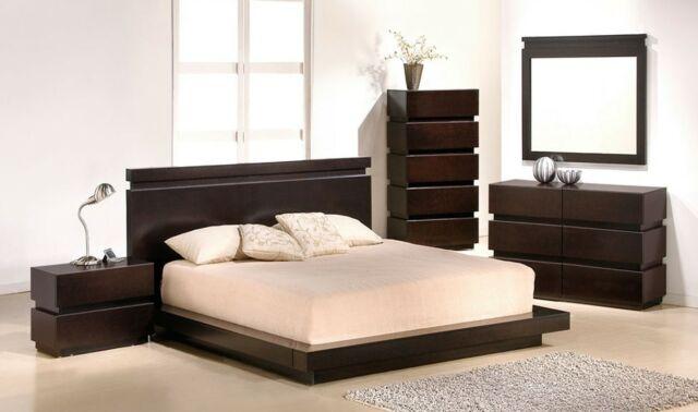 Monica Modern Queen Bedroom Set with Storage in Beige, 5-Piece for .