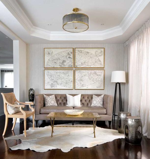 Modern Living Room Colors, Elegant Beige Paste
