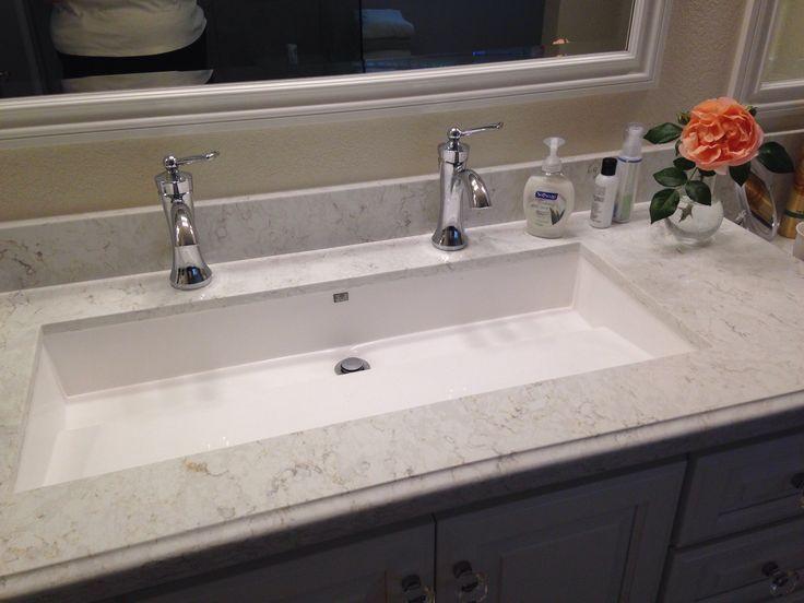 Master bathroom - 'Wymara 2' trough sink by mti, installed as .