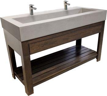Concrete Sink - Lavare 30 inch Concrete Sink - Trueform Concrete .