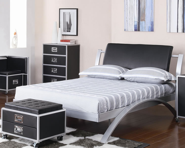 Furniture Iron Bedroom Furniture Nice On Regarding Modern Metal .