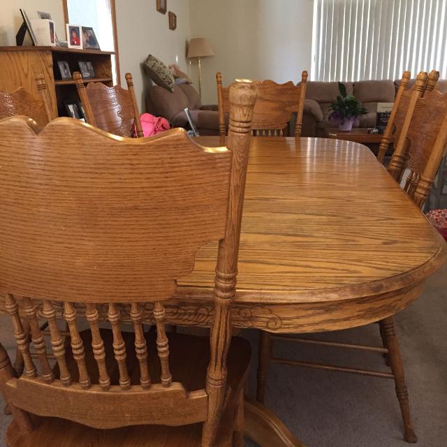 Best Amish Oak Dining Room Set for sale in Pueblo, Colorado for 20