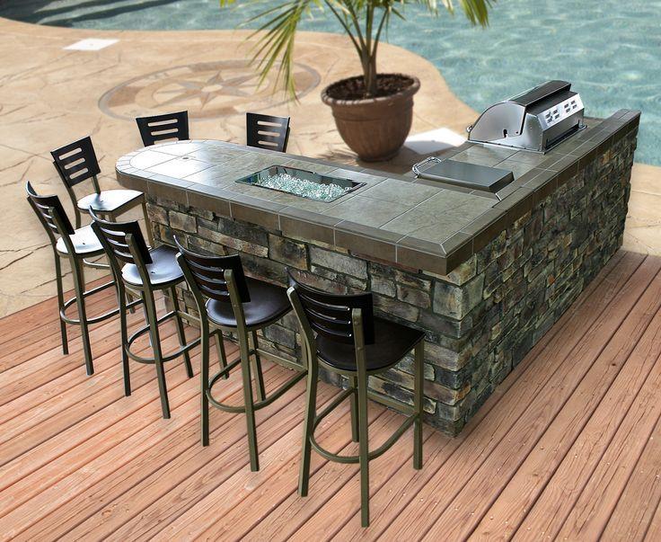 Outdoor BBQ Kitchen Islands on Pinterest | Outdoor Kitchens, Bbq .