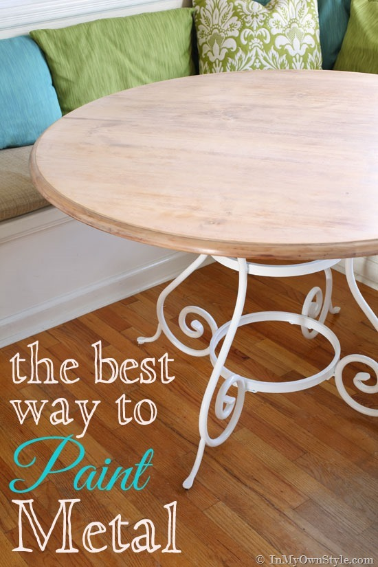 Kitchen Update - Painting Metal Furniture | In My Own Sty
