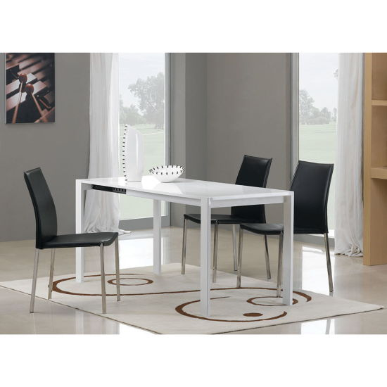 China White Paint MDF Living Room Furniture with Metal Dining .