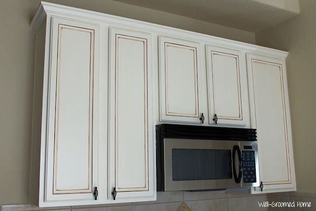 Painted Kitchen Cabinets - Chalk Paint! - Well-Groomed Home .