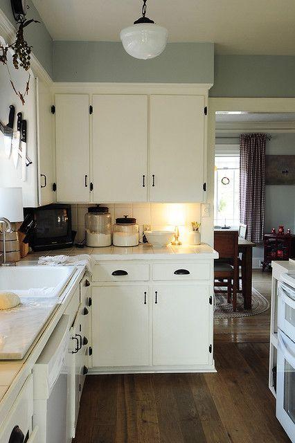 Painted cabinets | White kitchen interior, White kitchen interior .
