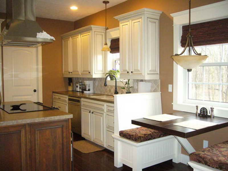 Kitchen-Color-Ideas-White-Cabinets-with-wooden-floor-with-brown .