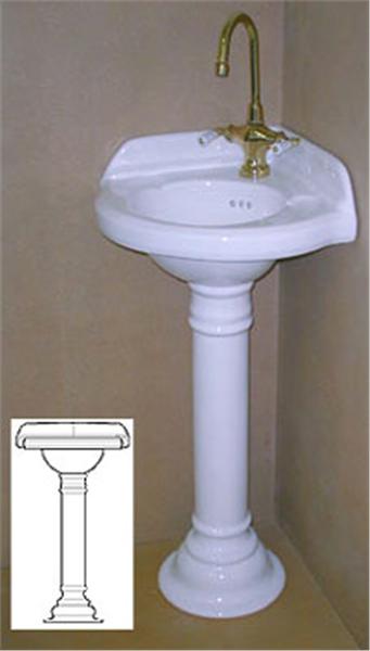 Corner Sink with Pedestal - SinksGallery | Corner pedestal sink .