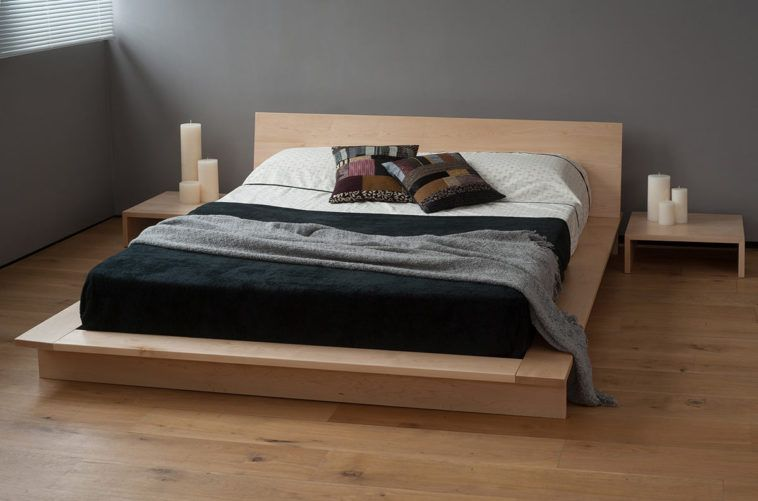 Low Wood Japanese Style Platform Bed Frame With Minimalist Design .
