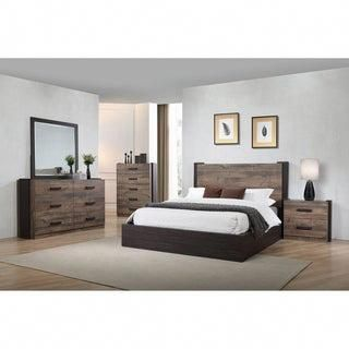 Carbon Loft Domnhall Weathered Oak 6-piece Platform Bedroom Set .