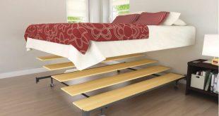 Queen Platform Conversion Set Bed Frame Portable Bedroom Wood .