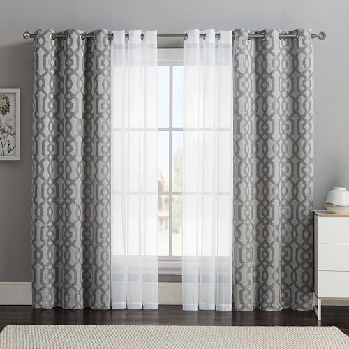 Victoria Classics 4-pc. Barcelona Double-Layer Curtain Set .