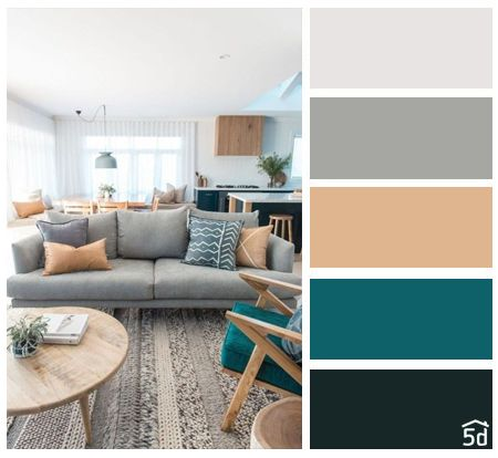 Living room interior, color palette, PLANNER 5D | Color palette .