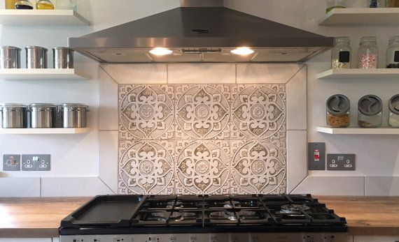 6 Ceramic tiles for kitchens or bathrooms, choose from 12 designs .