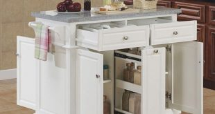 Small kitchen island with storage | Mobile kitchen island, Movable .