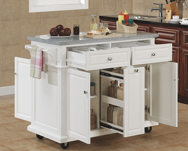 Movable kitchen island with seating | Mobile kitchen island .