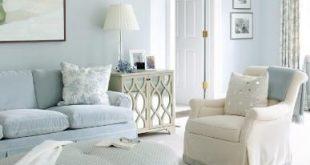 Powder blue living room | Muse Interiors | Light blue living room .