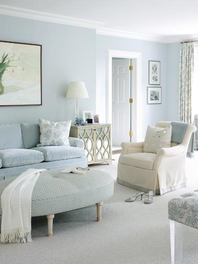 Powder Light Blue Living Room