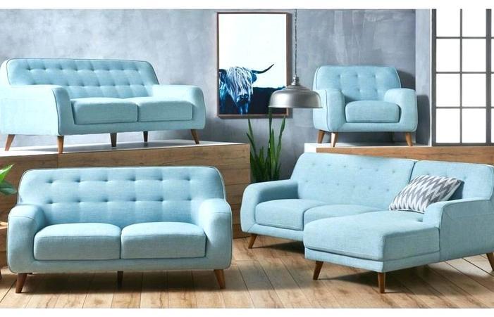Blue Furniture Living Room Color Schemes Tables Arrangement Sofa .