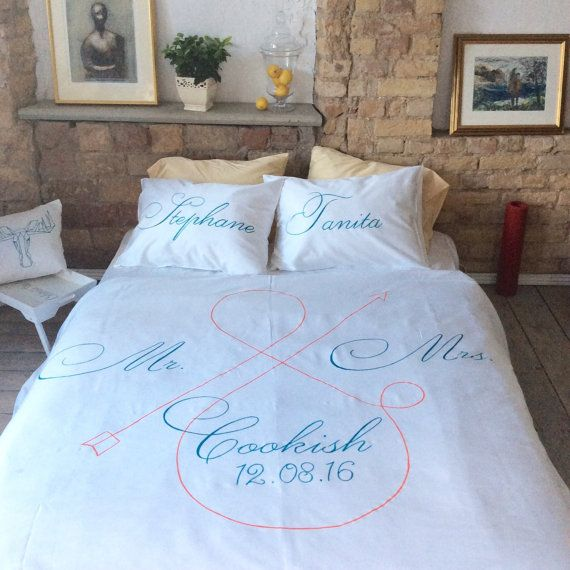 Personalized bedding set, king queen size, pillow cases, Duvet .