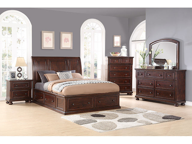Hanover Mango Queen Storage Bedroom Set | The Furniture Ma