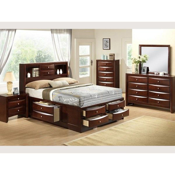 MB117 Contemporary Espresso Queen Bedroom S