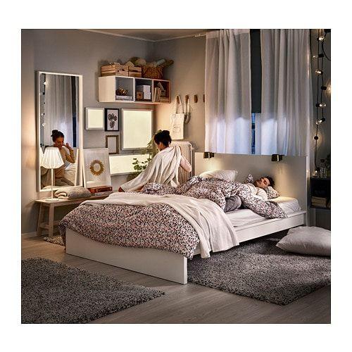 MALM Bedonderstel, hoog, wit, 160x200 cm - IKEA in 2020 | Malm bed .