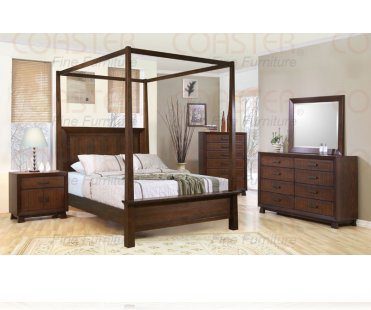 Garrett 5 Pc. Queen Canopy Bedroom Set, Bedroom Room Package .