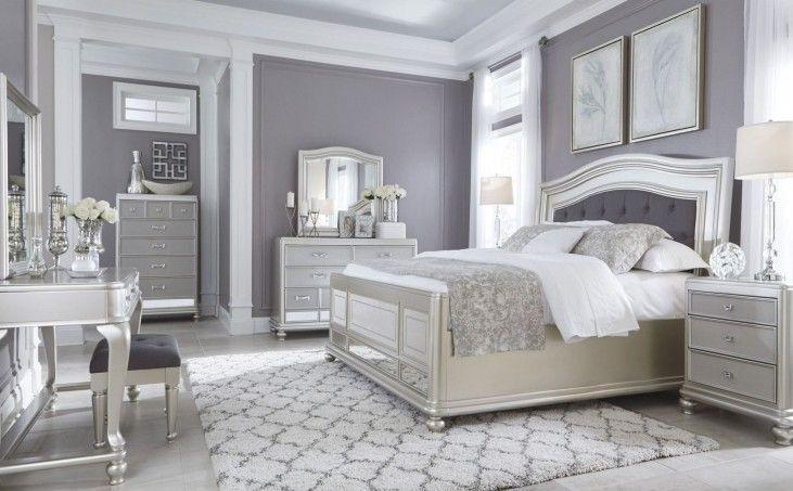Coralayne Silver Bedroom Set | Silver bedroom, Remodel bedroom .