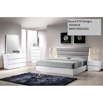 NUOVA ETA DESIGNS SUPER SALE!! QUEEN SIZE BED White Lacquer .