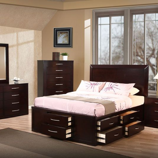 HOME DECOR | King storage bed, Bed frame with drawers, Bed with .