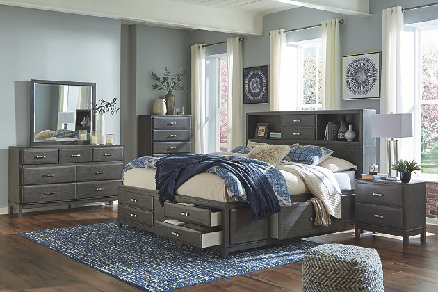 Caitbrook Queen Storage Bed with 8 Drawers | Ashley Furniture .