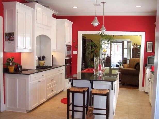 Colorful Kitchen Designs | Red kitchen walls, Kitchen design color .