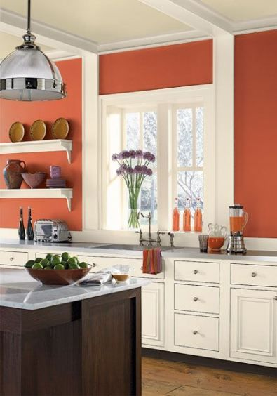 Kitchen wall colors red paint colours 45 Ideas for 2019 | Orange .